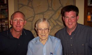 Coach Clayton and Coach Schluter w/legendary Coach John Wooden